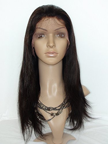 "Price comparison product image Good Quanlity 20"" Lace Front Wigs Look Natural Wig Human Hair Malaysian Virgin Remy Human Hair Natural Straight Color #2 Dark Brown"