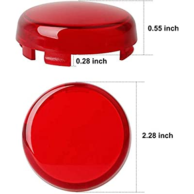 NTHREEAUTO Bullet Rear Turn Signal Light Lens Red Cover Compatible with Harley Dyna Street Glide Road King: Automotive