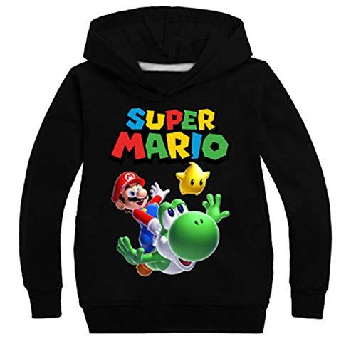 Kindertrui, mode jongens meisjes Super Mario Bros sweatshirt truien fluwelen hoodies met capuchon sportkleding tops voor…