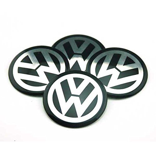 Volkswagen Golf Emblem - 4pcs C057 65mm Black Car Styling Accessories Emblem Badge Sticker Wheel Hub Caps Centre Cover VW Volkswagen B5 B6 MK4 MK5 MK6 Golf Polo PASSAT SAGITAR Jetta CC MAGOTAN Scirocco Eos