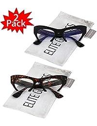 Cat Eye Eyeglasses Women Retro Vintage Razor Clear Lens...