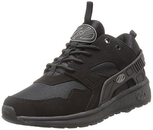 Heelys Boys' Force Sneaker, Black, 4 M US Big Kid