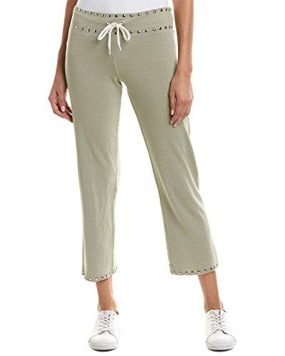 Monrow Womens Studded Sweatpant, M, - Monrow Green