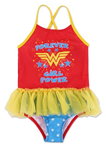 Dreamwave Toddler Girl Wonder Woman One Piece Swimsuit 4T]()