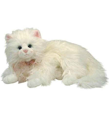 Cat Laying - TY Classics Kit  - white fluffy laying cat