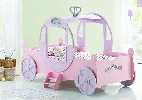 Nuova forma di carrozza da principessa da letto singolo rosa