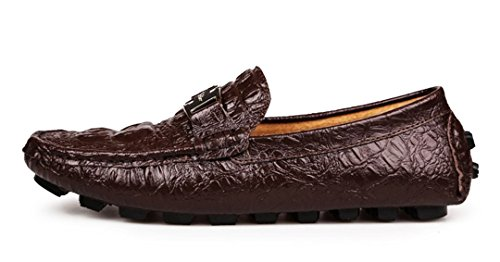 Slip Mens Classic Stitching Red Leather On Loafers Wine Penny Driving Shoes Business Fashion TDA dtxCwEqq