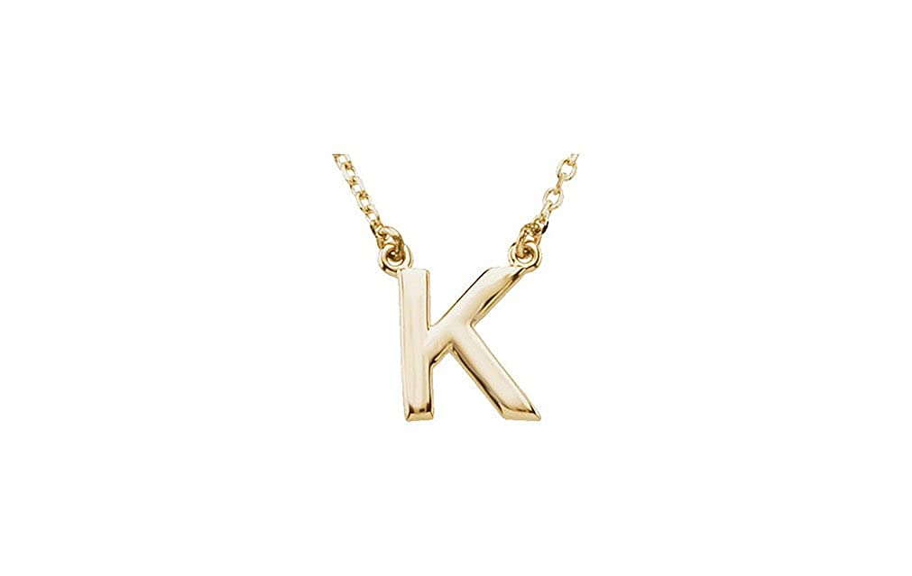 DREAM GEM 16in chain elegant and classy initials pendant necklaces