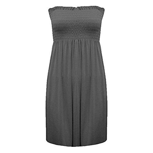 Charbon Plus bustier Haut Fashion longue dbardeur Imprim 20 22 femme moins pour robe Sheering 4 1wvxqwYHF6