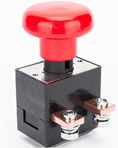 Winchmax Battery Isolator Kill Master Switch Push//Pull Button Emergency Stop 12v24v 250A