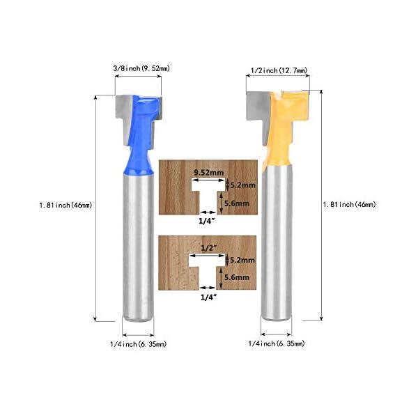 Yakamoz-2pcs-635mm-Queue-Fraise–Rainure-en-T-Router-Cutter-952mm38-127mm12-Lame-Fraises–Bois-Pour-Outils-lectriques-Vert-et-Jaune