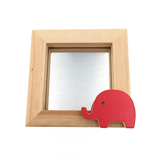 CECII Little Animal Baby Wood Picture Frame,Desktop Photo Frame,Home Decor 3x3
