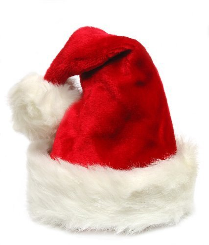 [Deluxe Adult Sized Thick Plush Santa Hat] (Deluxe Santa Hat)