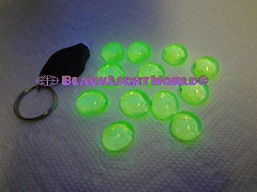 Uranium Gems 12 Pack With Free Black Light Key Chain ()