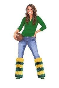 Green Bay Packers Fluffy Green & Gold Leg Warmers