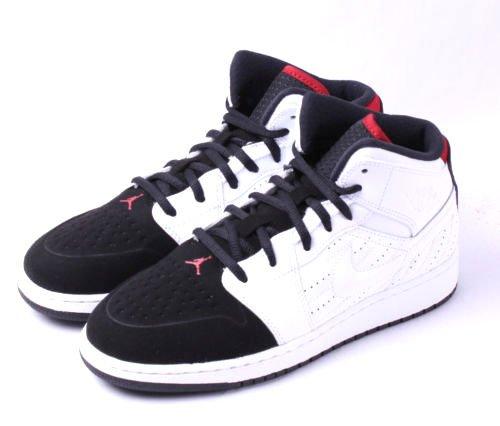 Jordan Nike Kids Air 1 Retro '99 Bg White/Black/Gym Red Basketball Shoe 5 Kids US (Air Jordan 1 Retro 99)