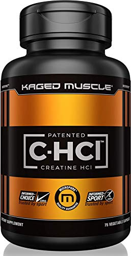 KAGED MUSCLE, Creatine HCl Capsules, Patented Creatine Capsules, Creatine, Highly Soluble, Unflavored, 75 Servings (Best Creatine Capsules Available)