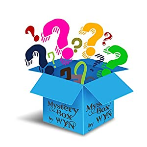 WYN Mystery Box Fun Holiday Surprise – Treasure Gadgets, Assortment of Collectibles, Technology, Vintage Liquid Blue, Brand Name Beauty Items, Household & Great Surprises