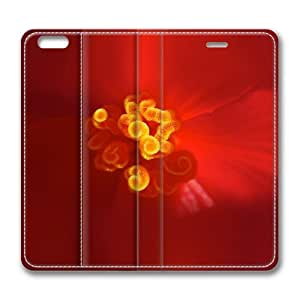 Beautiful Nature Spring Red Flower Zoom Standing Leather Smart Cover Case Exclusive for iPhone 6 Screen