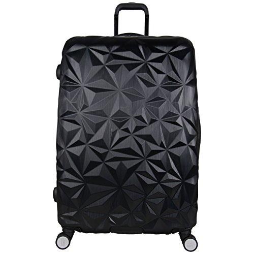 Aimee Kestenberg Womens Geo Chic 28 Hardside Expandable 8-Wheel Spinner Checked Luggage, Black