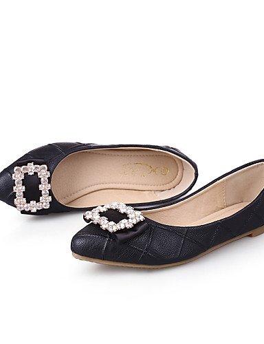 rojo mujeres las uk3 Casual negro PDX Toe cn34 Flats de us5 zapatos plano eu35 almendra almond talón señaló CqwHPwt