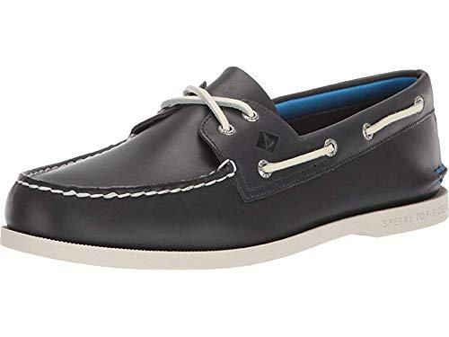 SPERRY Men's A/O 2-Eye Plush Boat Shoe, Navy, 7.5 M US