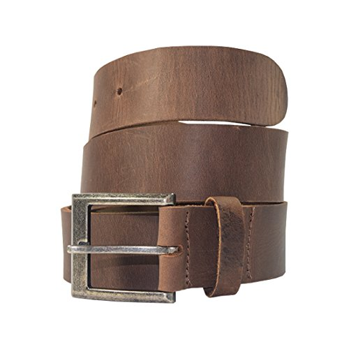 Men's Rustic Thick Leather Belt Handmade by Hide & Drink :: Bourbon Brown (Size - Classic Distressed Leather Brown