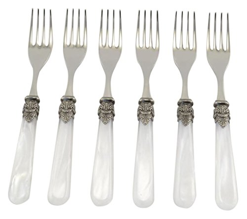 Arvindgroup X70NP/PE2 Napoleon Collection Cocktail/Salad Fork Set, White