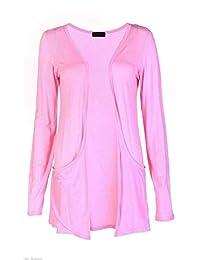 Fashion Womens Boyfriend Pocket Cardigan Shrug Sweater