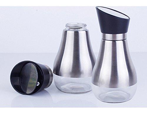YoHom High Precision Kein Tropfglas Drehen Flasche Olivenöl, Essig / Sojasoßenspender Menage, 14 Unzen, 2-er Set, Grün
