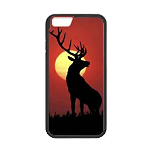 "super shining day Animals Deer TPU Material Phone Back Case Compatible with 4.7"" iPhone 6"