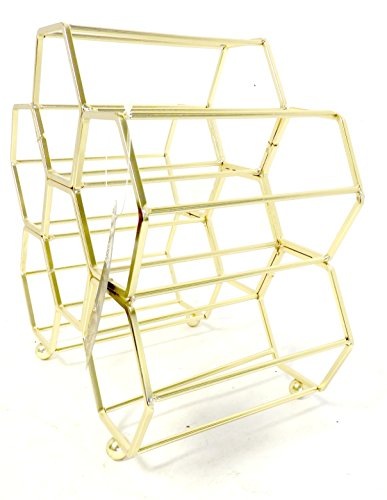 DINY Home & Style Hexagonal Free Standing Wine Rack (Gold) by DINY Home & Style