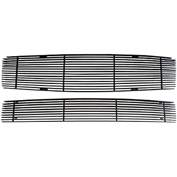 MaxMate 09-13 Nissan Maxima 2PC Combo Horizontal Billet Black Powder Coated Aluminum Grille Grill Insert