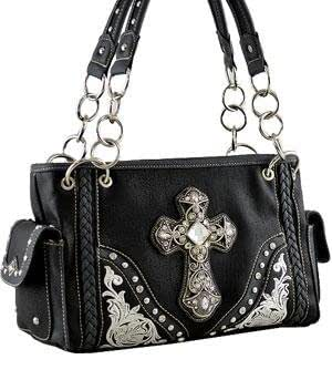a45013802e8a Montana West Crystal Cross Embroidered Shoulder Bag HANDBAG PURSE ...