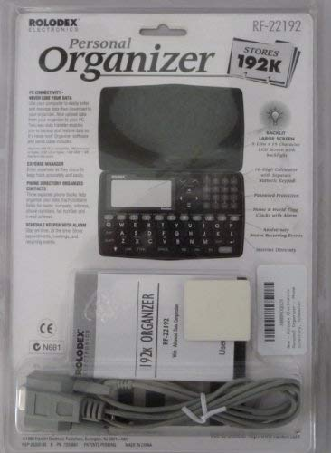 Rolodex Electronics Personal Organizer - Phone Directory, Scheduler, Calculator