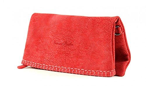 Fritzi aus Preußen Ronja Stit Kuba Clutch Pochette Mujer 29 cm SignalRed (Rojo)