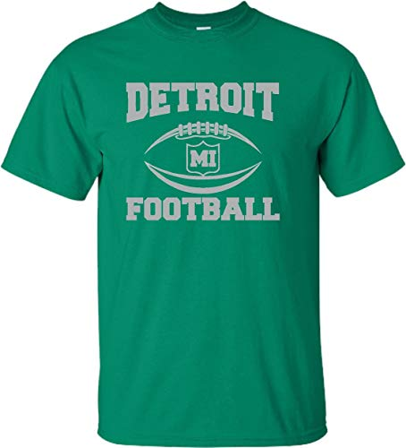 Go All Out YM 10-12 Kelly Green Youth Detroit Football T-Shirt ()
