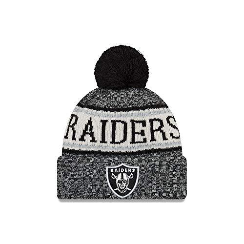- New Era Oakland Raiders NFL 18 Sideline Sport Knit Hat Black/White Size One Size