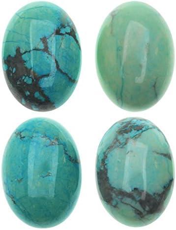 "15.5/"" Wholesale Natural Howlite Turquoise Gemstone Egg shape Loose Beads"