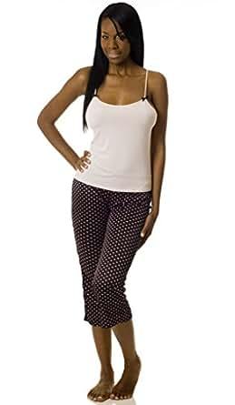 Microfiber camisole & Printed Capri Pants PJ Set 3x Pink Dots