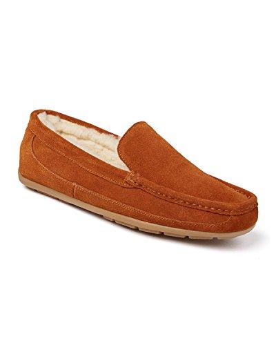 Morlands - Zapatillas de estar por casa de Ante para hombre marrón