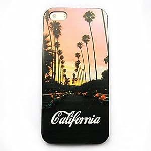 GONGXI- Caso duro del patrón de california para el iphone 5 / 5s