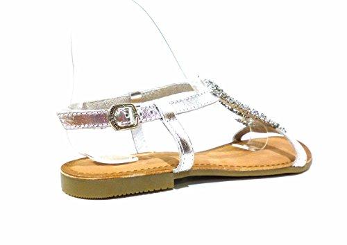 GIOSEPPO zapatos de mujer sandalias planas 40493-47 OCÉANEs talla 38 Plata