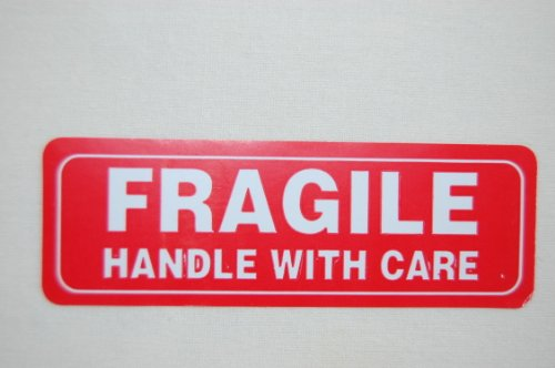 Pro Tek Fragile Sticker Handle With Care Shipping Labels