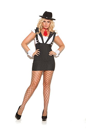 Women's Plus Size Sexy Gangster Girl Adult Role Play Costume