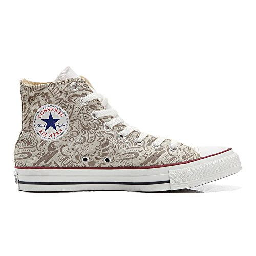 mys Converse Adulte Customized Artisanal Coutume Chaussures Paisley Damask Produit Saaqxwgd