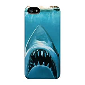 Apple Iphone 5/5s IaY26405jjNM Unique Design Nice Water Concept Funny Sharks Swimming Jaws Pictures Scratch Protection Hard Phone Cases -MarcClements