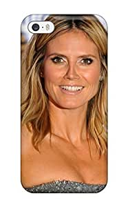 High Quality Shock Absorbing For Iphone 5/5S Phone Case Cover -heidi Klum (3D PC Soft Case)