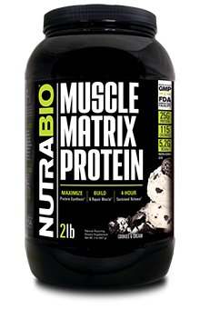 NutraBio Muscle Matrix Protein - Cookies and Cream 2lbs