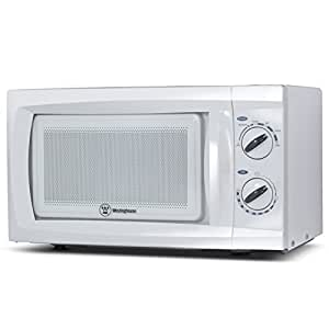 Counter Top Rotary Microwave Oven 0.6 Cubic Feet, 600 Watt, White, WCM660W by Westinghouse